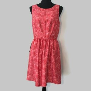 The Limited Red Satin Fit & Flare Dress 2 Lace